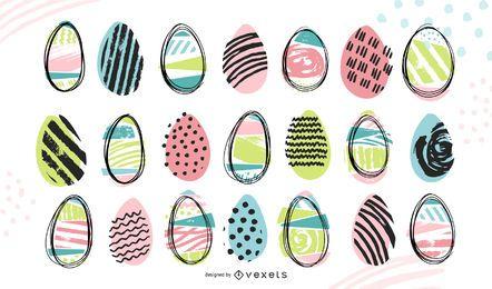 Doodle coleção de ovos de Páscoa
