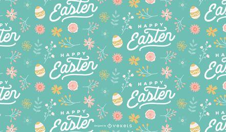Diseño de patrón de huevos de pascua feliz