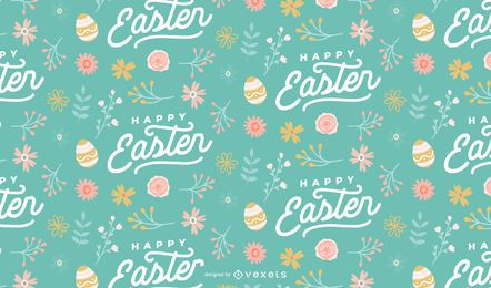 Feliz diseño de patrón de huevos de pascua