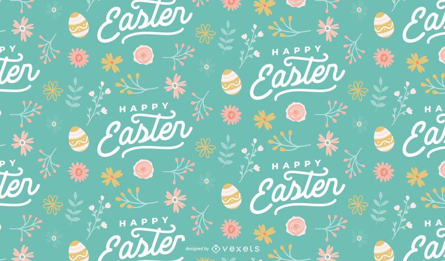 Happy easter eggs pattern design