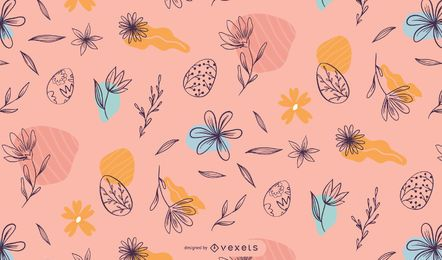 Easter floral pattern design