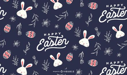 Happy easter pattern design