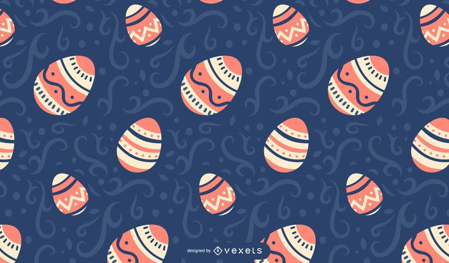 Painted easter eggs pattern