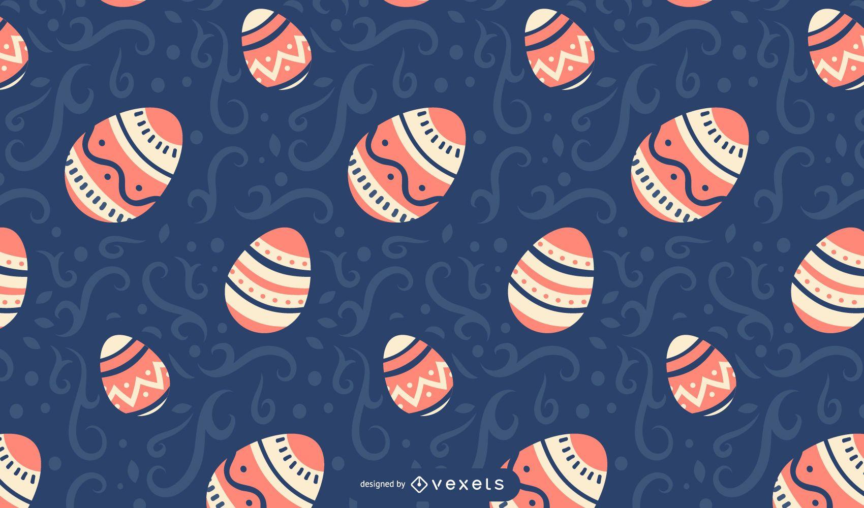 Patrón de huevos de pascua pintados