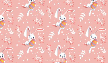Cute easter rabbit pattern design