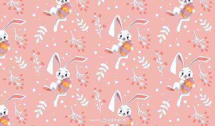 Desenho de coelho fofo da Páscoa