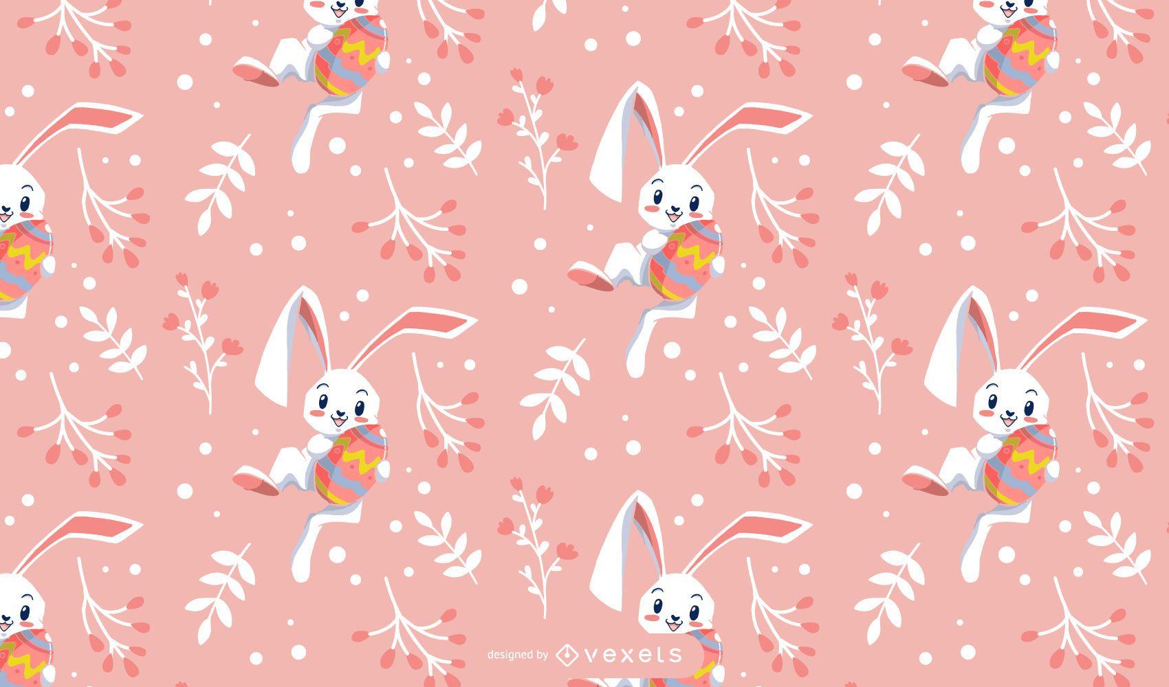 Cute easter rabbit pattern design