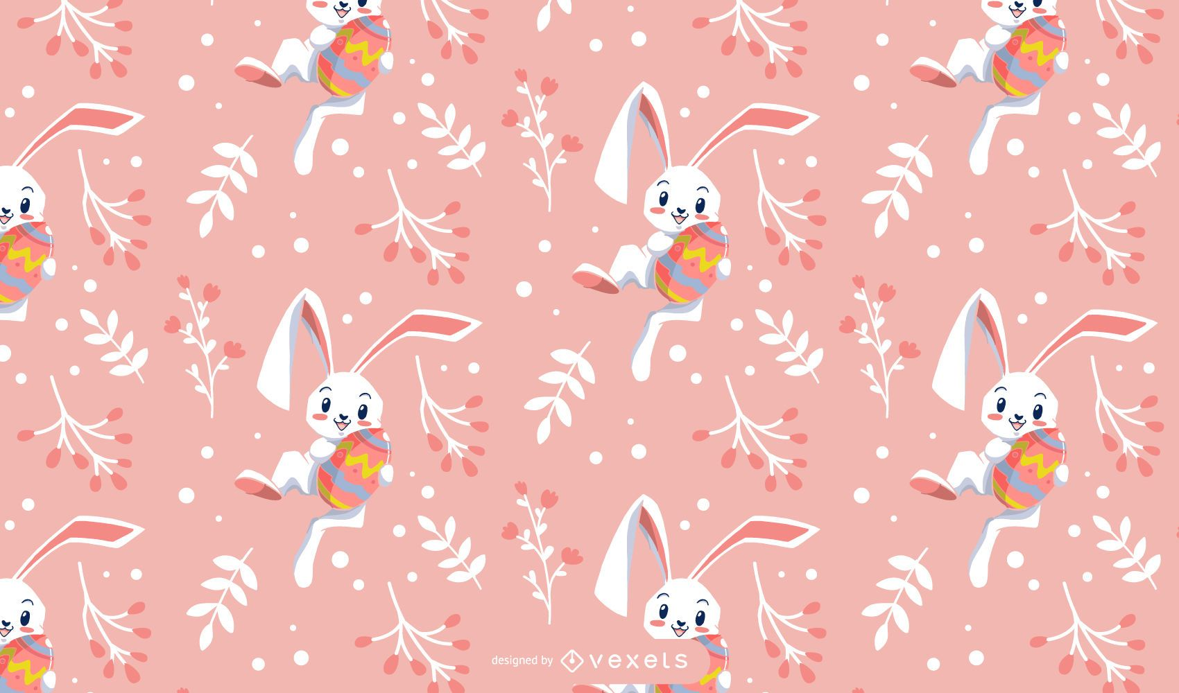 Lindo diseño de patrón de conejo de pascua
