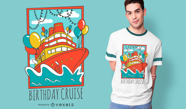 Birthday Cruise Ship T-shirt Design
