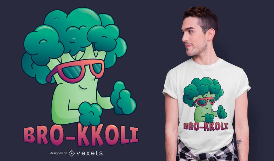 Broccoli Bro Funny T-shirt Design