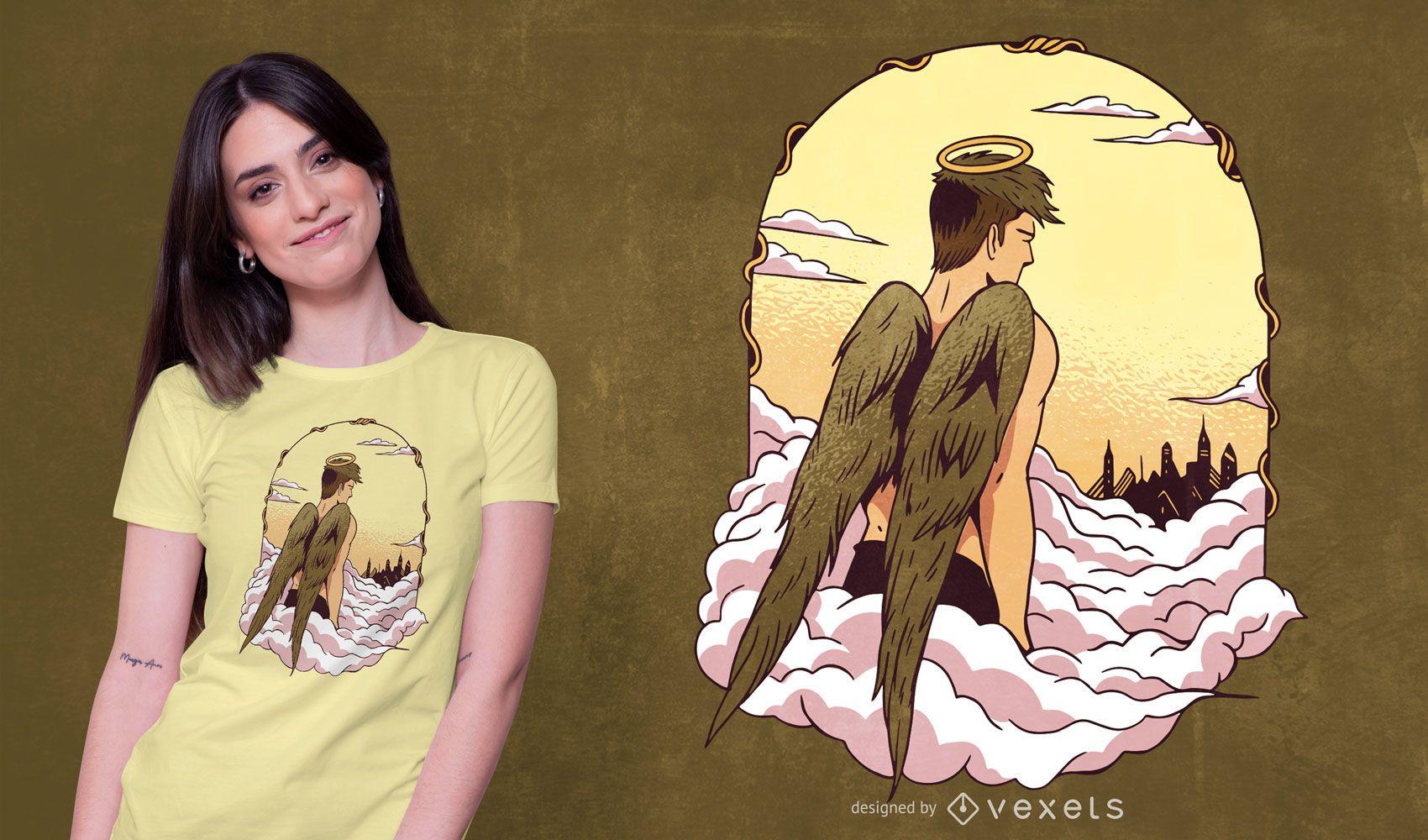 Diseño de camiseta Angel in Heaven