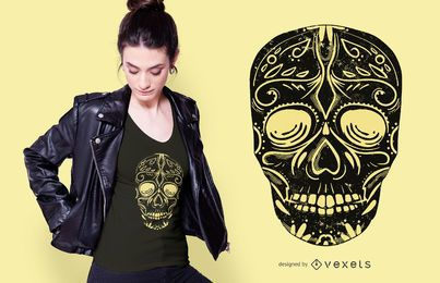 Black Sugar Skull T-shirt Design