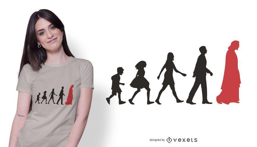 Jesus Leading People T-shirt Design
