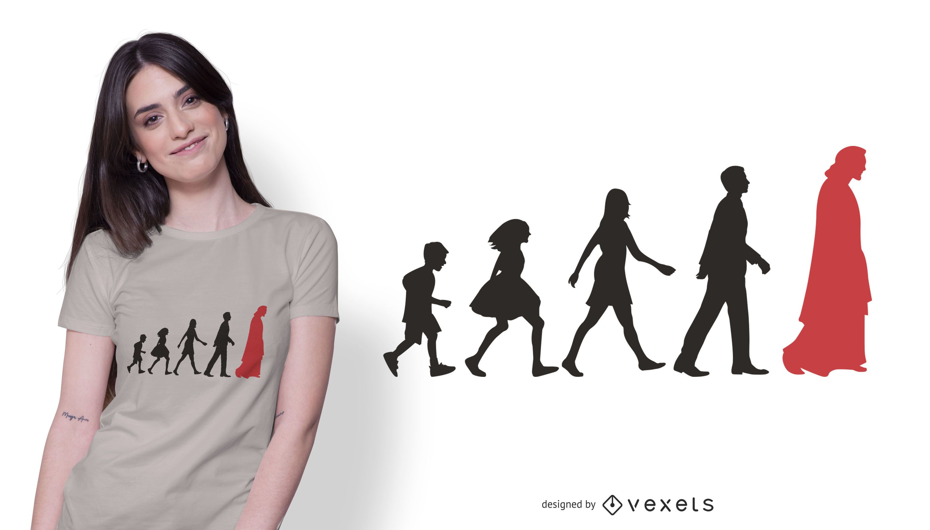 Diseño de camiseta Jesus Leading People