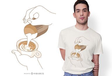 Latte Art Design de t-shirt