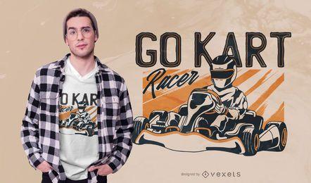 Diseño de camiseta Go Kart Racer