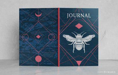 Design de capa de livro de diário oculto