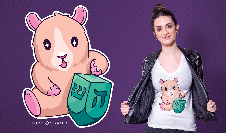 Diseño de camiseta Guinea Pig Dreidl