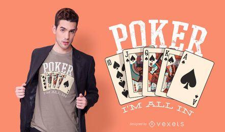 Diseño de camiseta Poker Quote