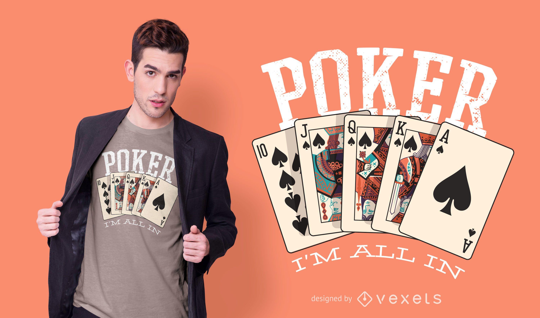 Design de camiseta de cotação de pôquer