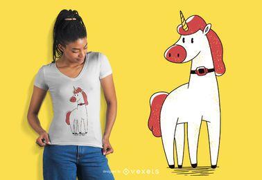Diseño de camiseta de tubo Unicorn Trach