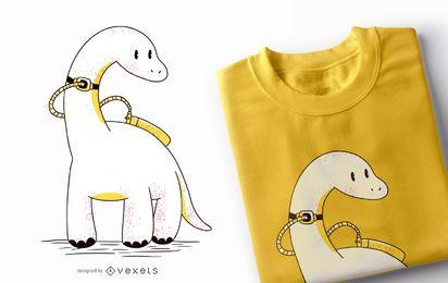 Design de t-shirt de tubo de dinossauro Trach