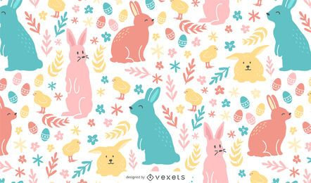 Colorful easter pattern design