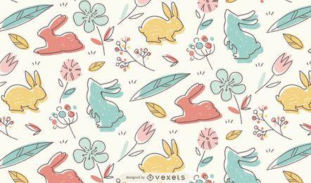 Diseño de patrón de doodle de Pascua