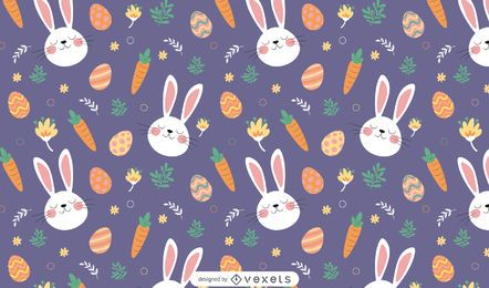 Easter bunnies pattern design