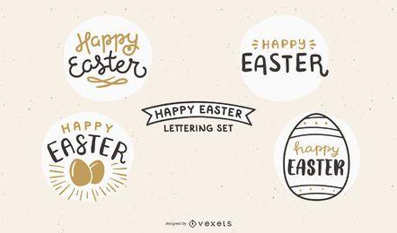 Glückliches Ostern-Beschriftungsset