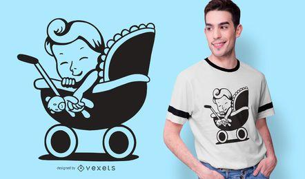 Diseño de camiseta de bebé genial