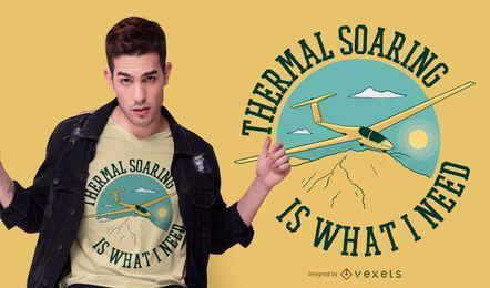 Design de t-shirt de citação de planador