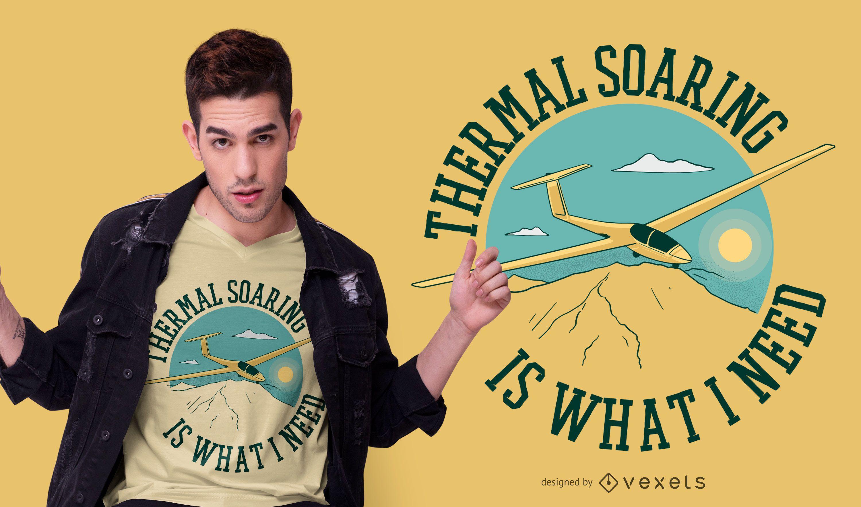 Sailplane quote t-shirt design