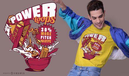 Power loops t-shirt design