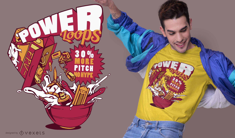 Dise?o de camiseta power loops