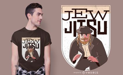 Diseño de camiseta de jitsu judío