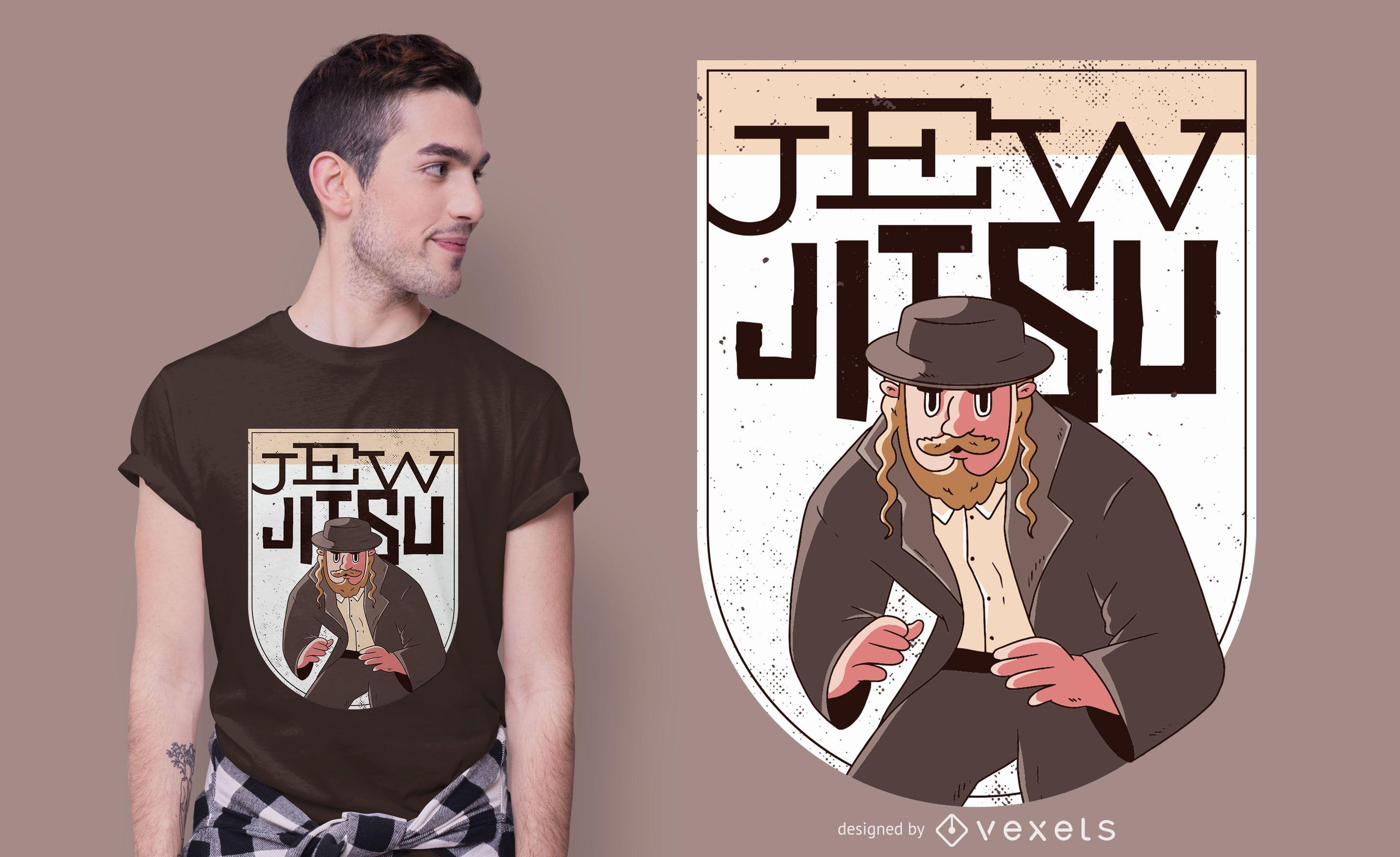Jew jitsu t-shirt design