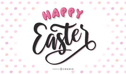 Happy Easter Handwriting Lettering Design
