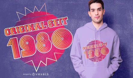 Design alemão do t-shirt do aniversário de 1980 originais