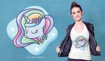 Glowing Unicorn T-shirt Design