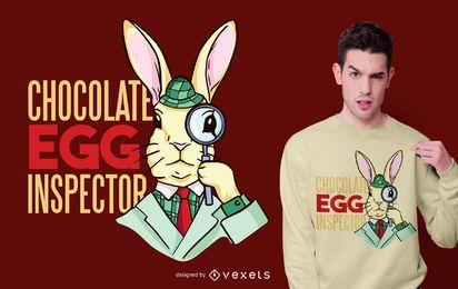 Design de t-shirt de inspetor de ovo de páscoa