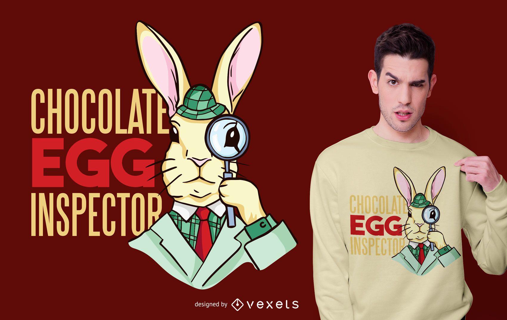 Dise?o de camiseta de inspector de huevos de Pascua