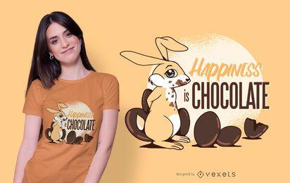 Diseño divertido de la camiseta de la cita del conejito de Pascua