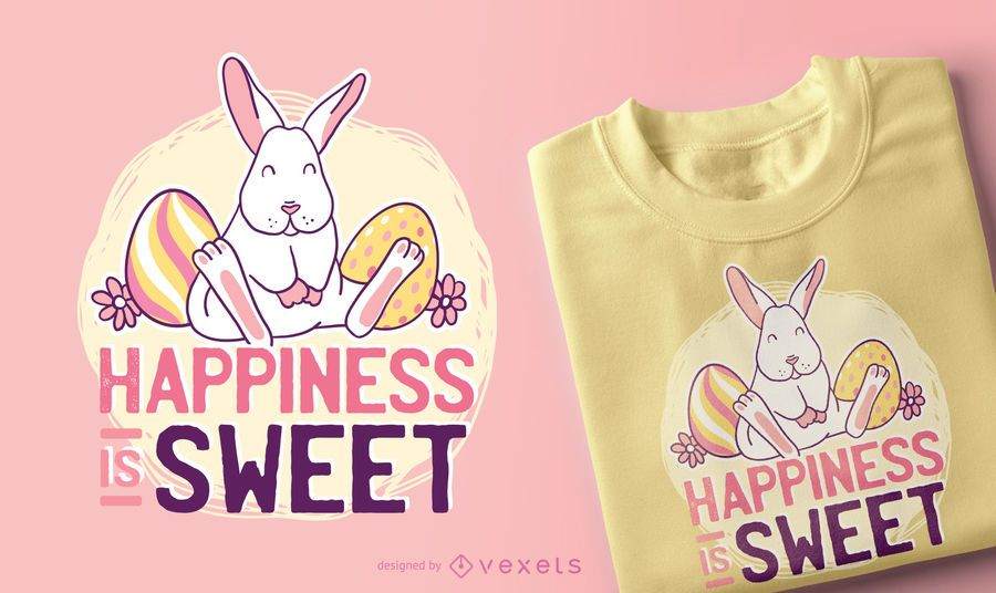 Cute Easter Bunny Quote T-shirt Design