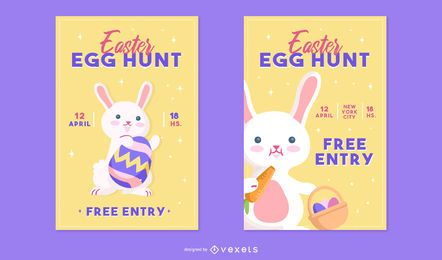 Easter egg hunt poster set