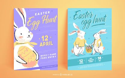Easter egg hunt poster templates