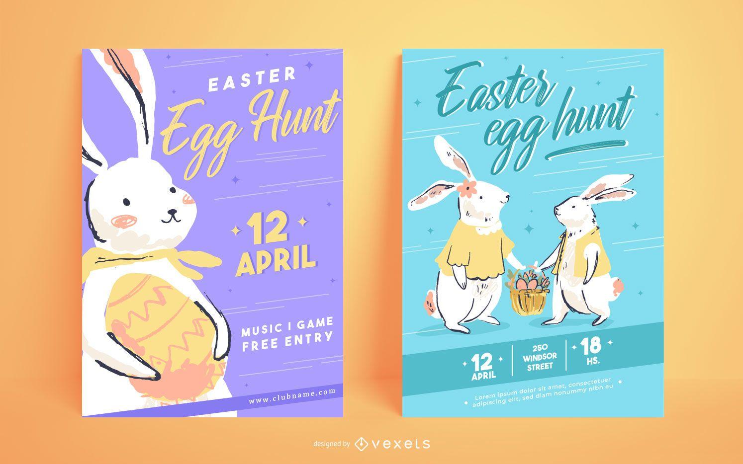 Easter egg hunt poster templates