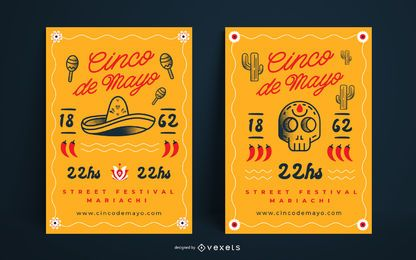 Cinco de mayo poster set