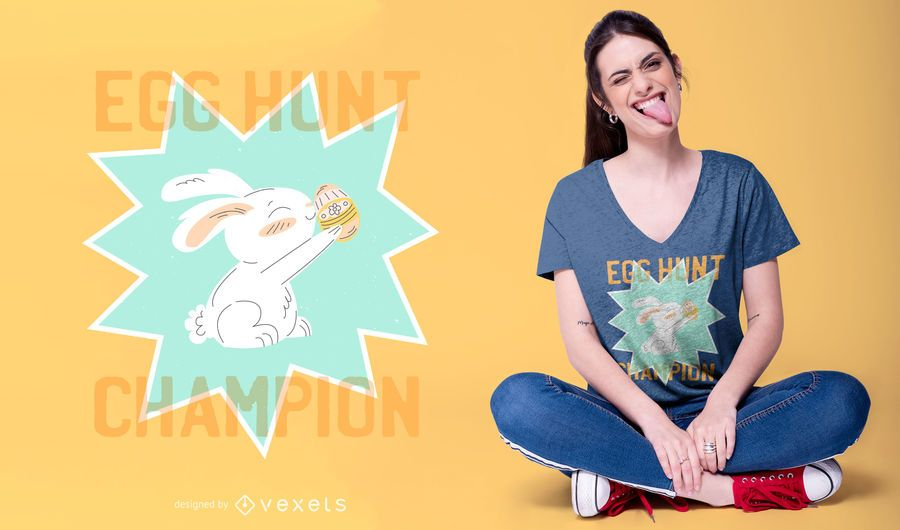 Egg Hunt Champion Easter T-shirt Design