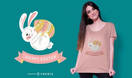 Nettes Häschen-Ostern-T-Shirt Design